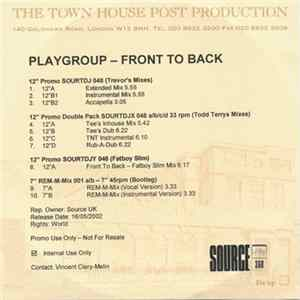 Playgroup - Front To Back FLAC