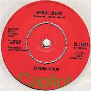 Barbara Acklin - Special Loving / You Give Him Everything, But I Give Him Love FLAC